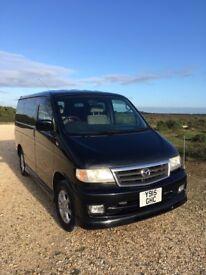 Black Mazda Bongo Van, excellent condition