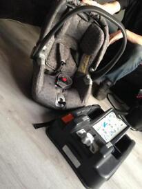 Mamas and papas base and baby car seat