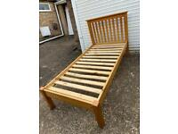 Solid pine single bed with or without mattress