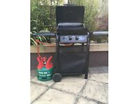 Lagnna 2 burner gas & side BBQ Like new , used 3 times unwanted gift. Full gass.& cover