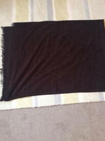 Chocolate Brown Chenille Marks & Spencer's Throw