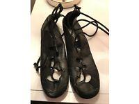 Highland Dancing Shoes-Size 13/32 -Black