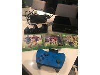 Xbox one console, remote and fifa games