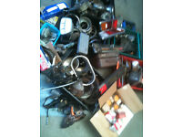 Classic car parts , job lot , lights, filters, brake shoes, belts etc.