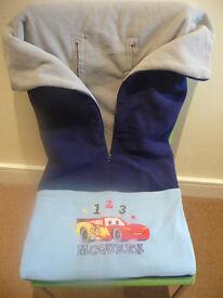 Disney Pixar Cars Dual Stroller and Car Seat Fleece Blanket