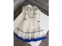 Girls blue Anarkali dress