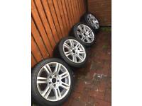 """Bmw alloy wheels and tyres 17"""" Bmw Msport 330d 320d 325 225/45/17 255/40/17"""