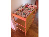 cot bed + IKEA baby change
