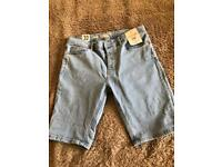 Topman stretch skinny denim shorts W32