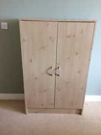 """Bargain!!!"" BEECH-COLOURED CUPBOARD AND MATCHING DRAWER-SYSTEM In Excellent Condition"