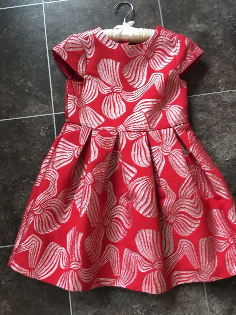 421e12d06 Designer Girls Red party dress age 5-6