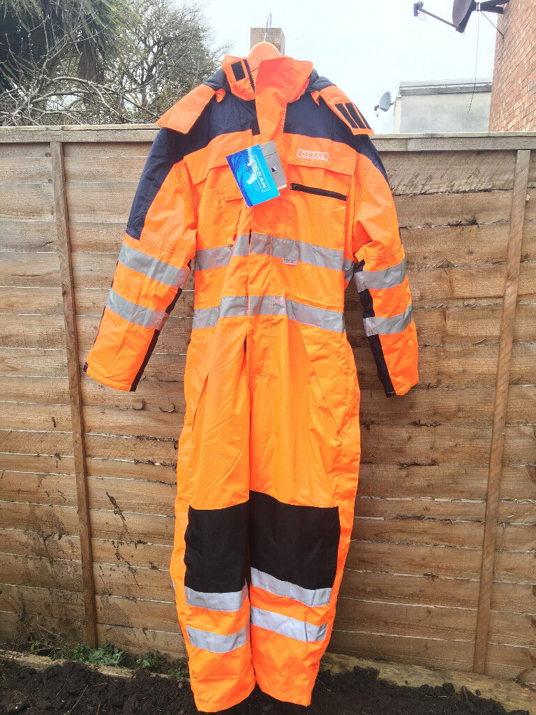 Ocean Thermo Breathable Thermal High-vis Coverall / Work Wear