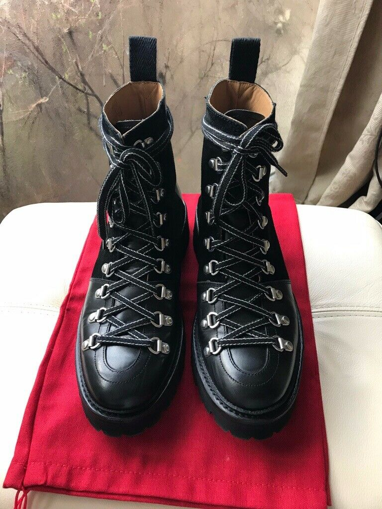 34a726d9a4a Grenson Nanette Hiking Boots Black Leather Size UK 5.5 | in Wimbledon,  London | Gumtree