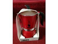 Stylish Bialetti Italian coffee machine 3 cups