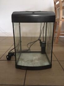 36L Fish Tank with Filter, heater and decorations