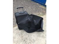 Black Suitcase with Suit Carrier