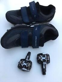 Specialized Cycling Shoes & Clipless WPD Pedals