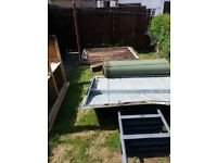 Scrap metal free. Metal shed. Only really worth scrap