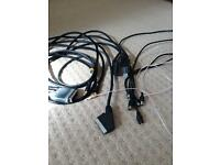 Scart, AV and Arial cables various