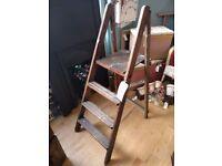 Vintage rustic ladders wooden