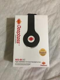 Deepbass High definition On ear Headphones MD 81