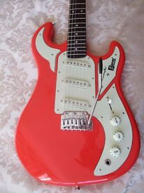 BURNS MARQUEE GUITAR,COLDSTREAM RED