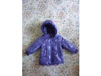 New warm NAME IT without label baby girl coat 9-12 months .