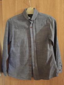 Blue denim look next shirt