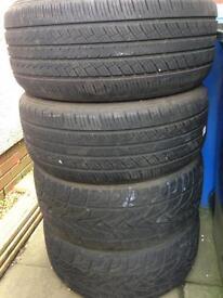 BMW X5 Tyres 255/50 19 x Four