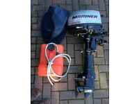 Marina 5HP 4stroke short shaft outboard with separate fuel tank, head cover and manual