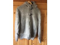 Men's fur lined grey hoody in large
