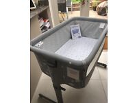 Chicco next to me crib, comes in immaculate condition, only used for 2 months, colour - silver /grey