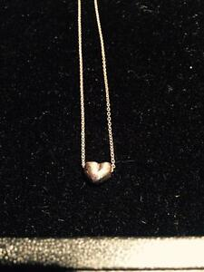 New silver necklace