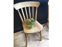 SOLID SLAT PINE FARMHOUSE CHAIR IN EXCELLENT CONDITION