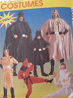 8334 McCalls SEWING Pattern Halloween Super-Hero Costumes Star Wars Style Batman](Halloween Pattern)