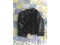 Boys Winter Coat - Age 3-4 - REAL LEATHER