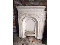 Vintage cast iron fireplace