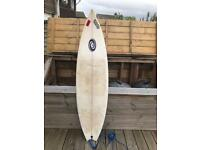 Linden 6ft fish tail quad fin surfboard