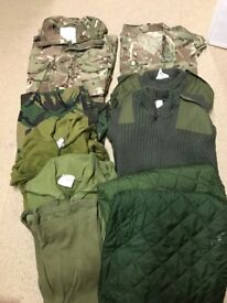 Military, Army, Navy AirForce Marines jacket trousers belts
