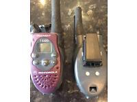Two Motorola Walkie-Talkies