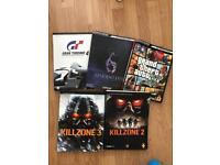 PlayStation books GT 4 Grand theft auto killzone resident evil