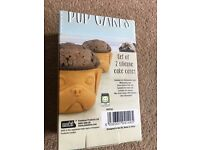 Pug Cupcake Moulds Cake Cases