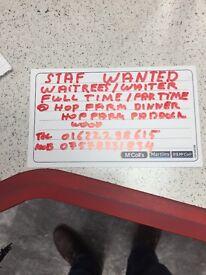 Waitress/waiters wanted