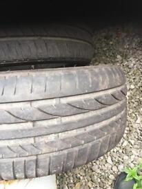 2x 225-40/18 tires
