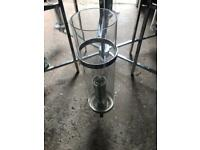 Chandelier style light, glass and silver ( stainless steel)