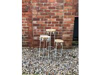 Three Lovely Vintage Plant Pot Stands