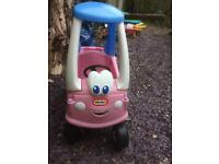 Little tikes pink princess coupe