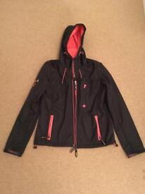 Superdry dark grey jacket windtrekker jacket size M