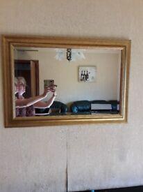 """Gilt mirror 32"""" wide x 22 """""""