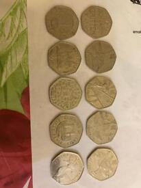 50p coins (£10-£200)